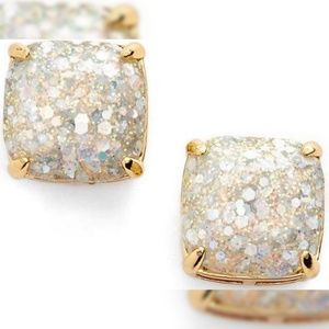 Kate Spade Square Opal Glitter Stud Earrings